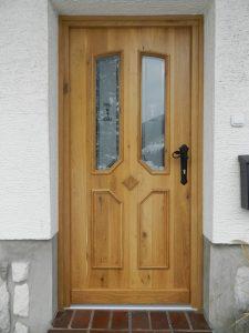 3. Vhodna hrastova vrata narejena po skici