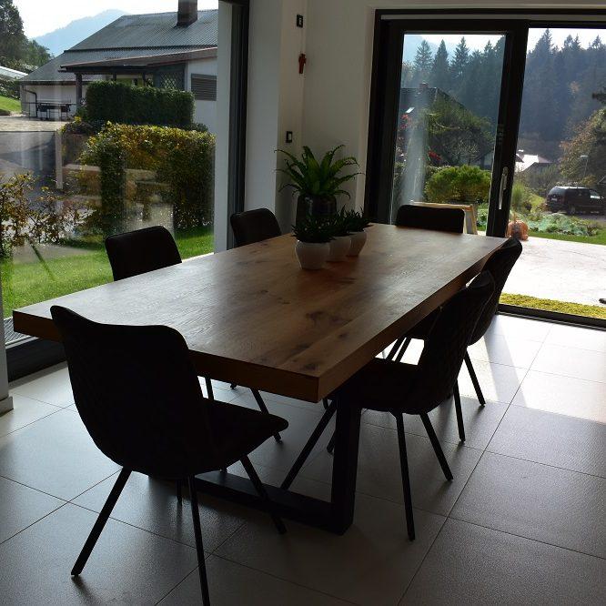 Masivna hrastova miza 100 x 210