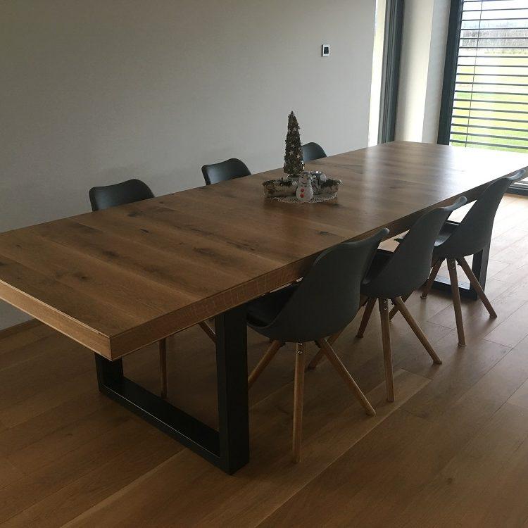 Masivna miza, hrast 100 x 300, debelina plošče 68 mm